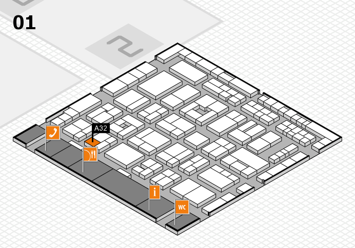 MEDICA 2016 hall map (Hall 1): stand A32