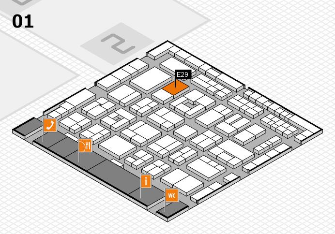 MEDICA 2016 hall map (Hall 1): stand E29