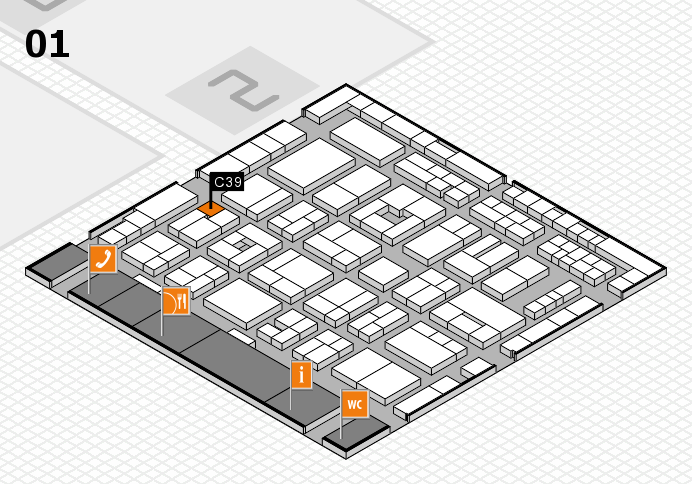 MEDICA 2016 hall map (Hall 1): stand C39