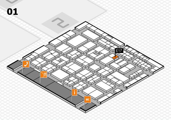 MEDICA 2016 Hallenplan (Halle 1): Stand E17