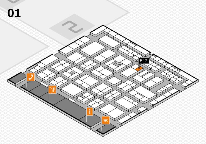 MEDICA 2016 hall map (Hall 1): stand E17