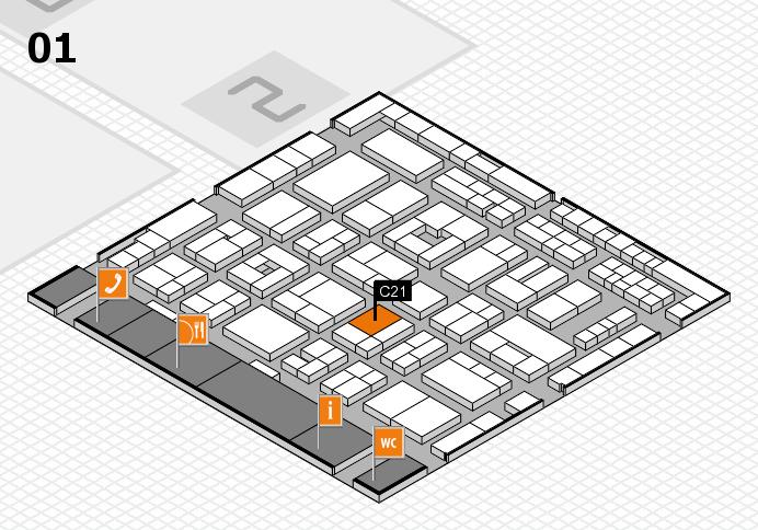 MEDICA 2016 Hallenplan (Halle 1): Stand C21
