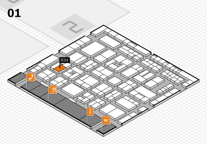 MEDICA 2016 hall map (Hall 1): stand B34