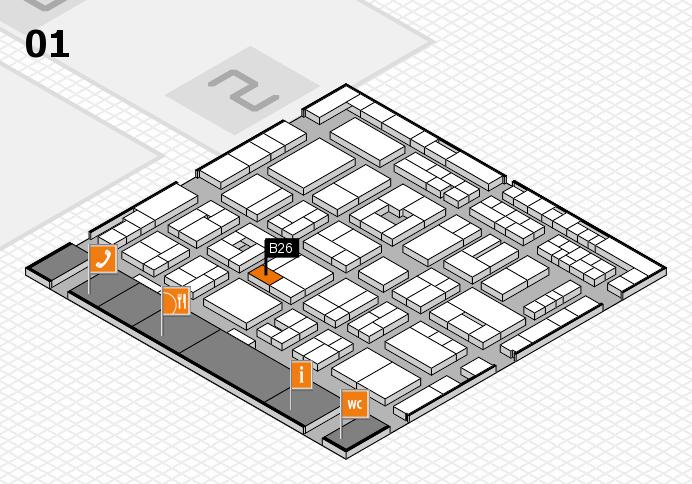 MEDICA 2016 Hallenplan (Halle 1): Stand B26