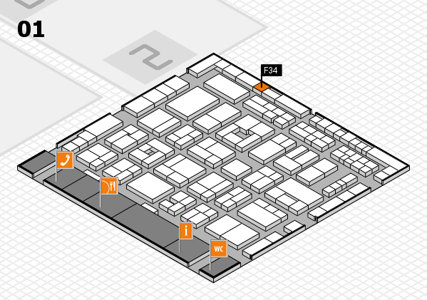 MEDICA 2016 hall map (Hall 1): stand F34