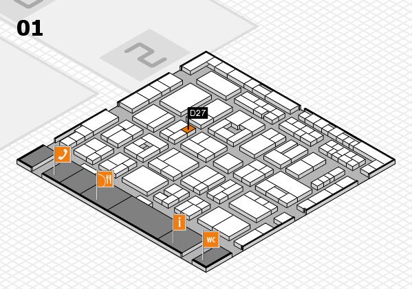 MEDICA 2016 hall map (Hall 1): stand D27