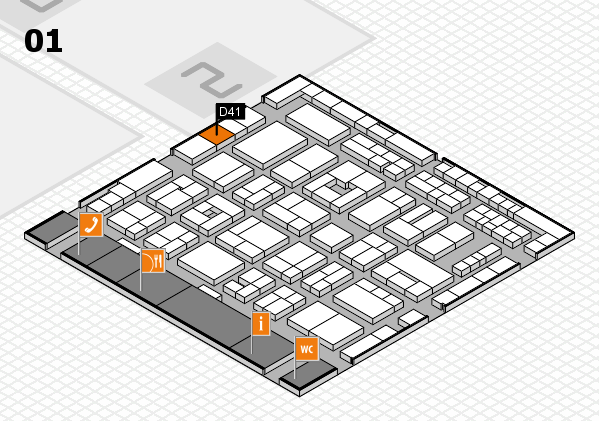 MEDICA 2016 hall map (Hall 1): stand D41