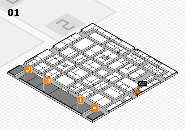 MEDICA 2016 hall map (Hall 1): stand C02