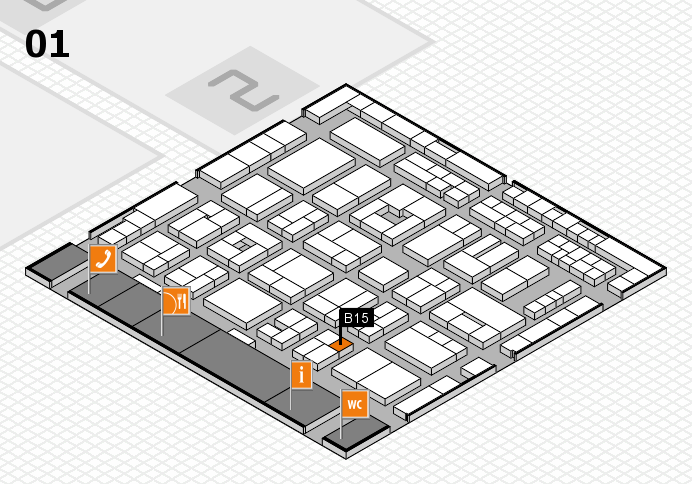 MEDICA 2016 Hallenplan (Halle 1): Stand B15