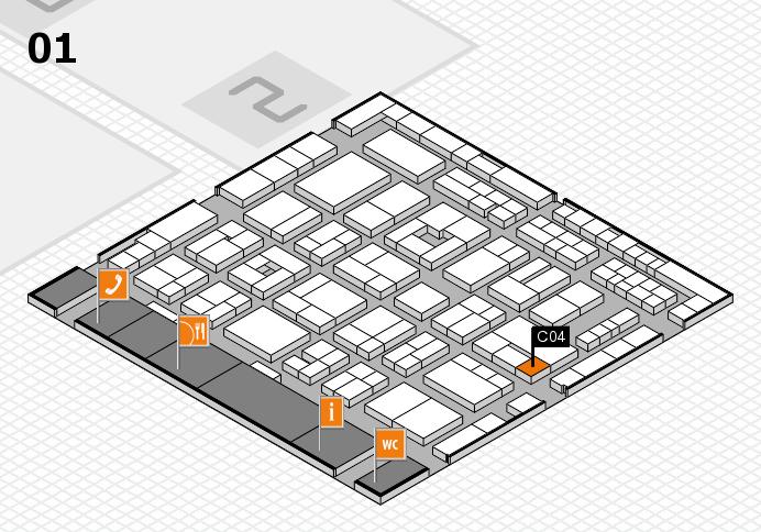 MEDICA 2016 Hallenplan (Halle 1): Stand C04