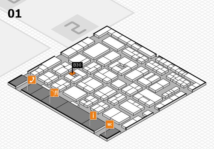 MEDICA 2016 hall map (Hall 1): stand B30