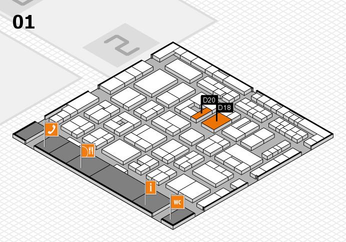 MEDICA 2016 Hallenplan (Halle 1): Stand D18, Stand D20
