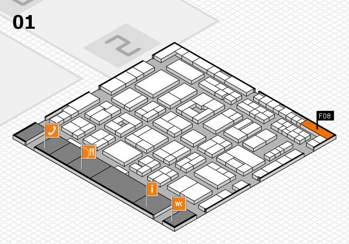 MEDICA 2016 hall map (Hall 1): stand F08
