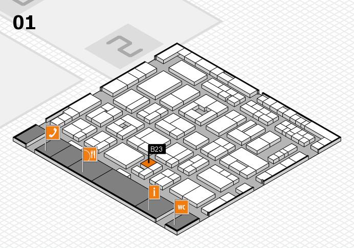 MEDICA 2016 hall map (Hall 1): stand B23