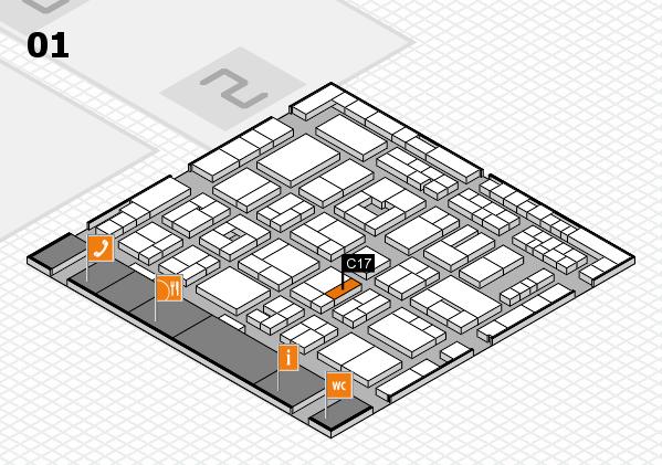 MEDICA 2016 Hallenplan (Halle 1): Stand C17