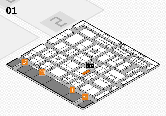 MEDICA 2016 hall map (Hall 1): stand C17