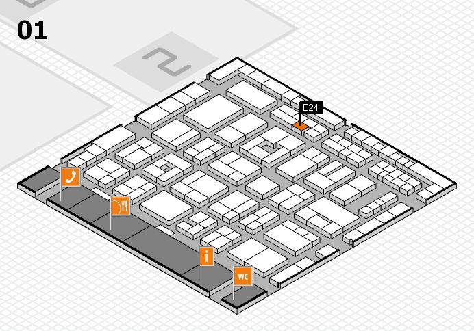 MEDICA 2016 hall map (Hall 1): stand E24