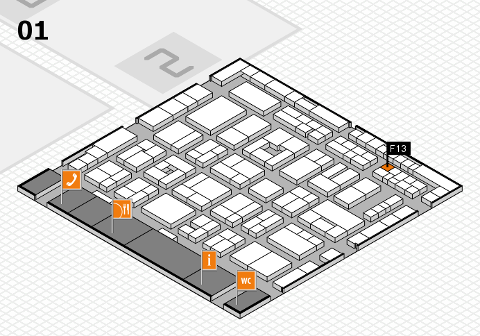 MEDICA 2016 hall map (Hall 1): stand F13