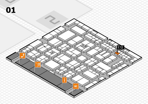 MEDICA 2016 Hallenplan (Halle 1): Stand E12