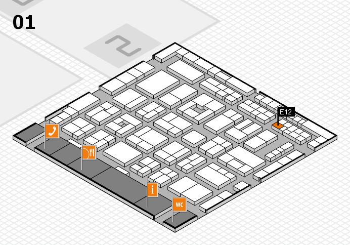 MEDICA 2016 hall map (Hall 1): stand E12