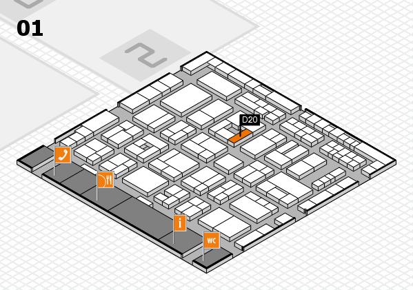 MEDICA 2016 hall map (Hall 1): stand D20