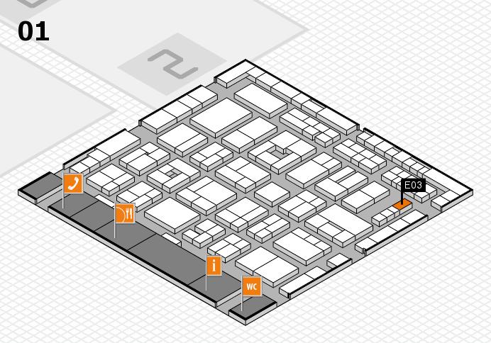 MEDICA 2016 hall map (Hall 1): stand E03
