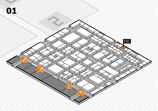 MEDICA 2016 Hallenplan (Halle 1): Stand F20