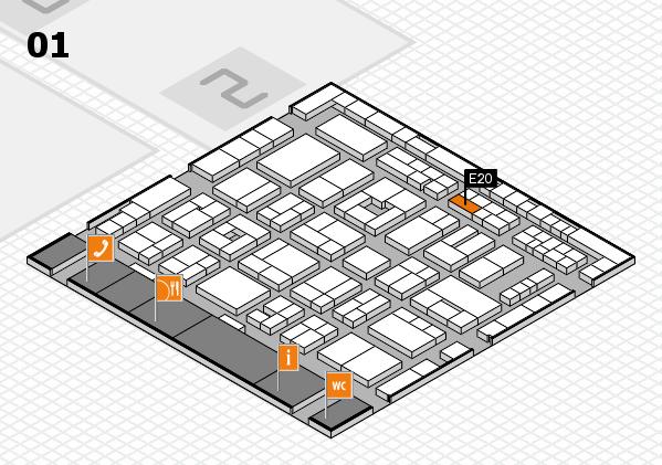 MEDICA 2016 hall map (Hall 1): stand E20