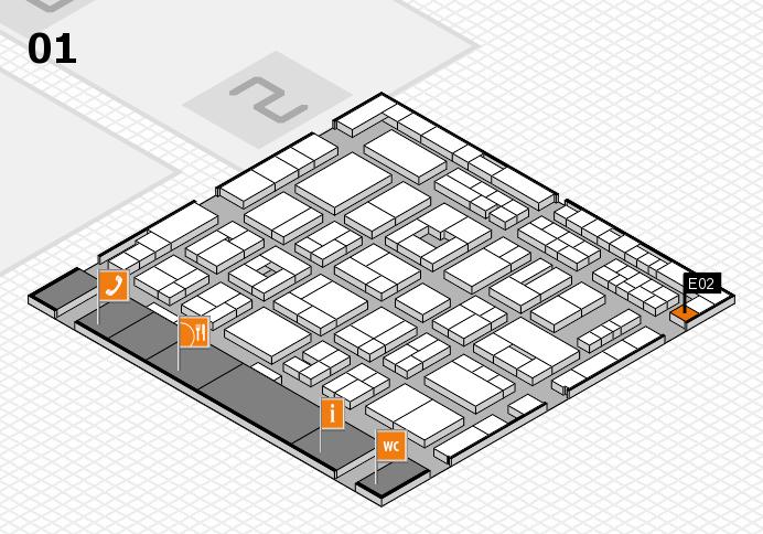 MEDICA 2016 hall map (Hall 1): stand E02