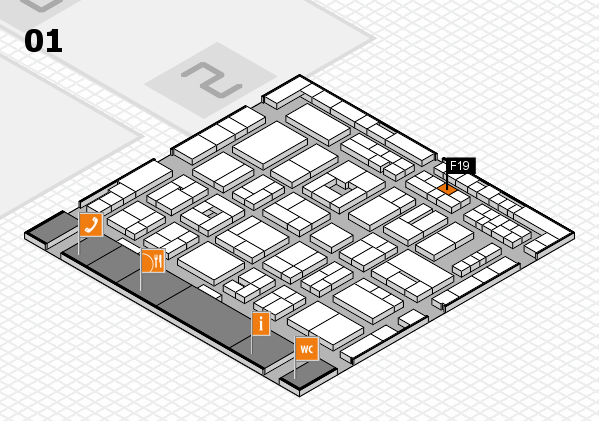 MEDICA 2016 Hallenplan (Halle 1): Stand F19