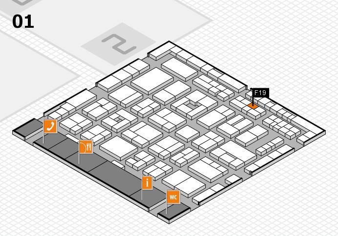 MEDICA 2016 hall map (Hall 1): stand F19
