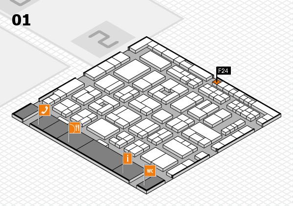 MEDICA 2016 hall map (Hall 1): stand F24