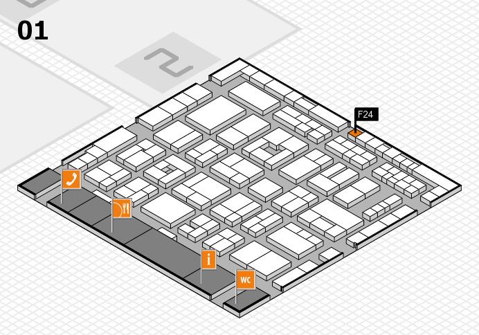 MEDICA 2016 Hallenplan (Halle 1): Stand F24