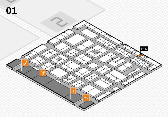 MEDICA 2016 hall map (Hall 1): stand F14