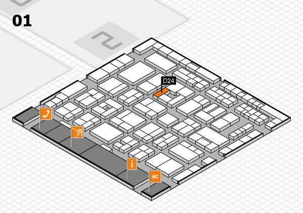 MEDICA 2016 hall map (Hall 1): stand D24