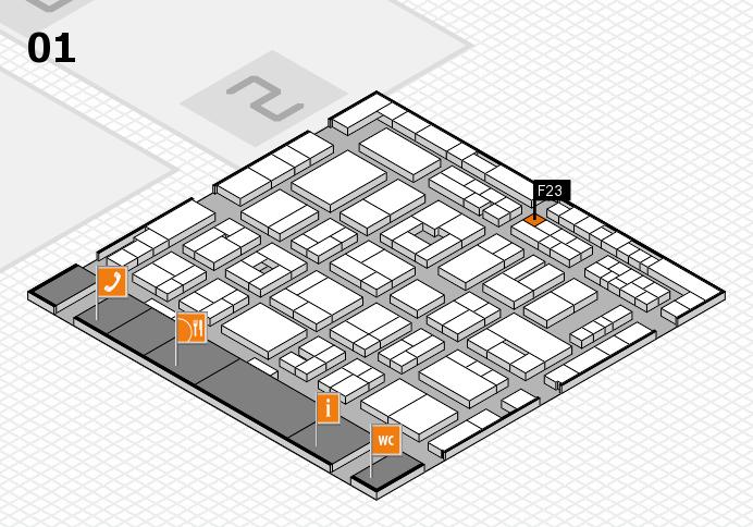 MEDICA 2016 hall map (Hall 1): stand F23