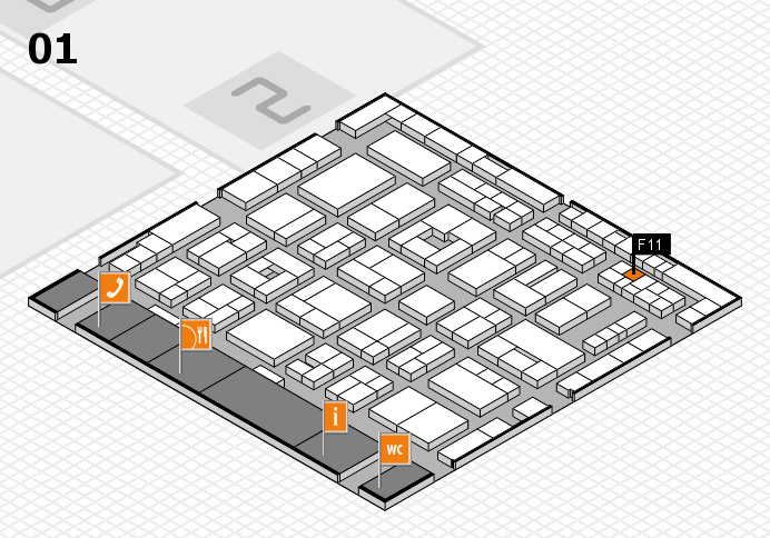 MEDICA 2016 hall map (Hall 1): stand F11