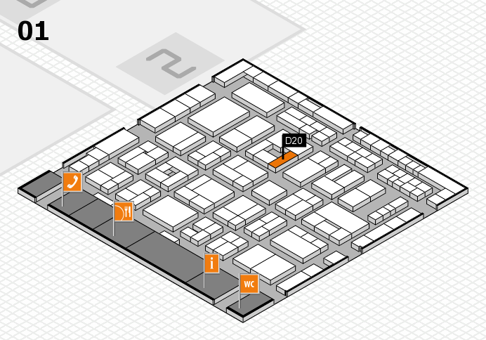 MEDICA 2016 hall map (Hall 1): stand D20
