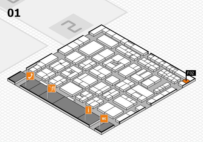 MEDICA 2016 hall map (Hall 1): stand F02