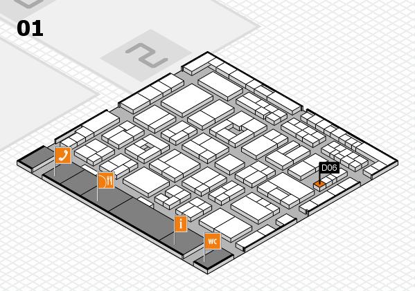 MEDICA 2016 hall map (Hall 1): stand D06