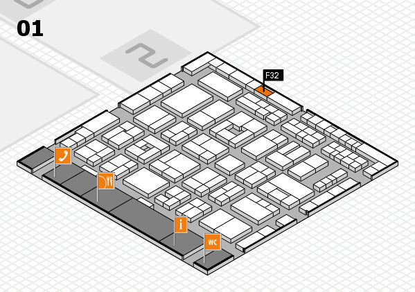 MEDICA 2016 Hallenplan (Halle 1): Stand F32