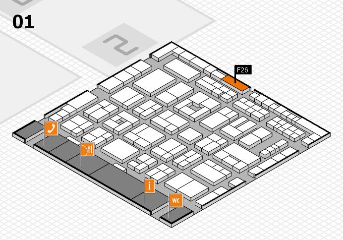 MEDICA 2016 Hallenplan (Halle 1): Stand F26