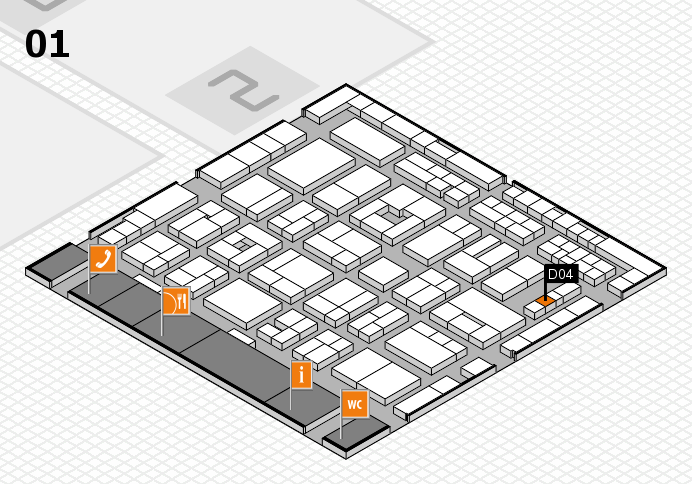 MEDICA 2016 hall map (Hall 1): stand D04