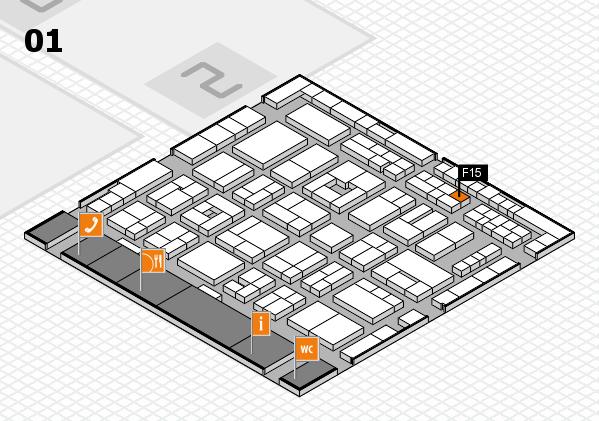 MEDICA 2016 Hallenplan (Halle 1): Stand F15