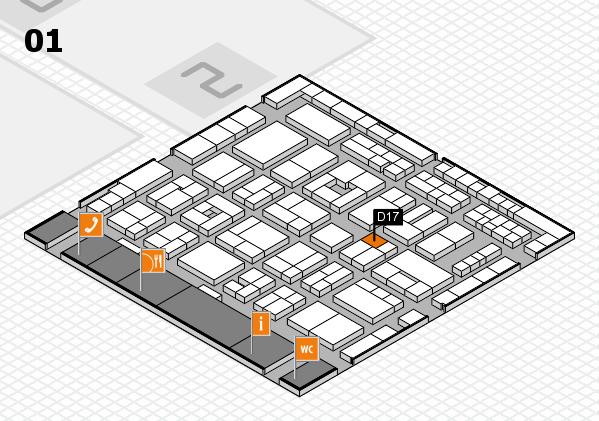 MEDICA 2016 Hallenplan (Halle 1): Stand D17