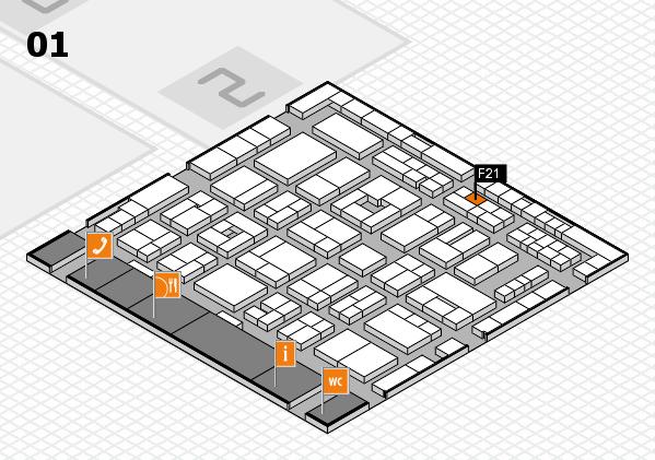 MEDICA 2016 hall map (Hall 1): stand F21