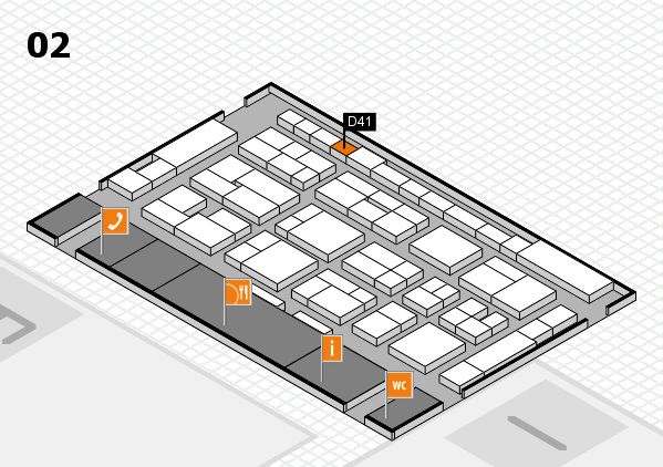 MEDICA 2016 hall map (Hall 2): stand D41