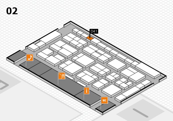 MEDICA 2016 hall map (Hall 2): stand D41