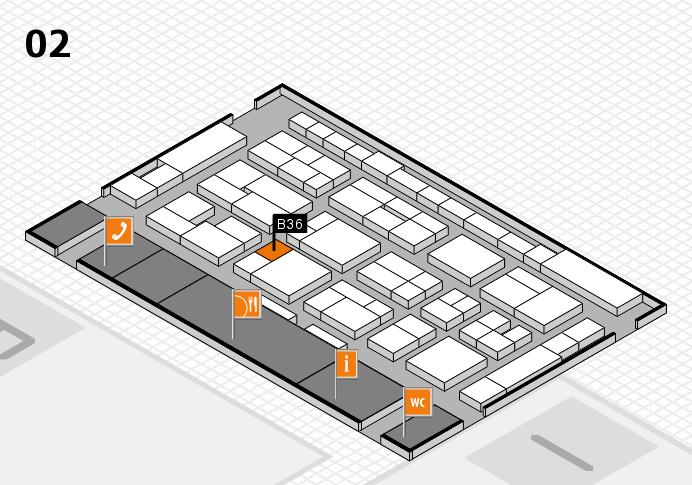 MEDICA 2016 hall map (Hall 2): stand B36