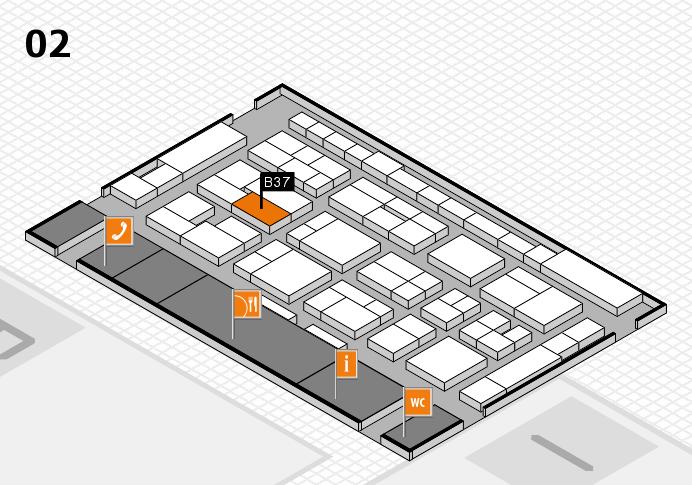 MEDICA 2016 hall map (Hall 2): stand B37